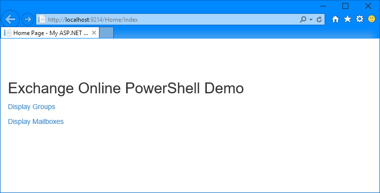 Calling Exchange Online PowerShell from an Azure web app