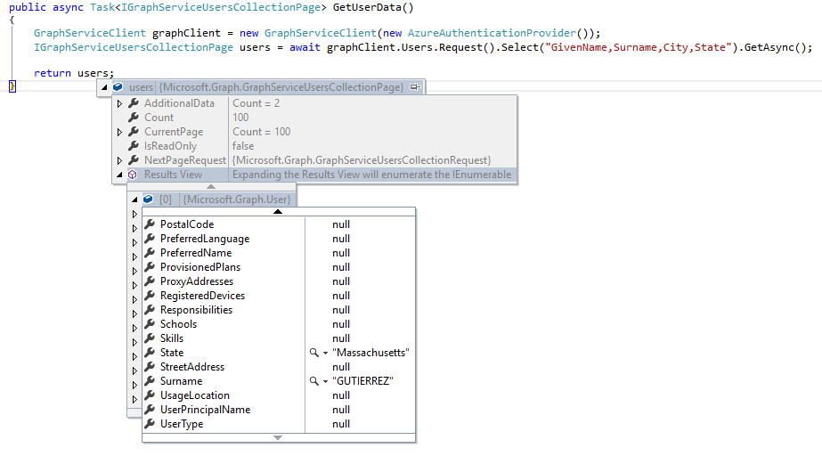 More about the Microsoft Graph  NET Client Library - Engineering and