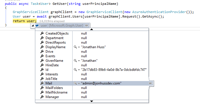 Intro to the Microsoft Graph  NET Client Library